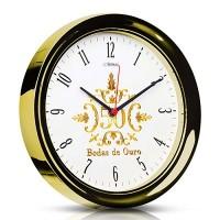 Relógio de Parede Quartz Dourado Bodas de Ouro - 6637 - Herweg