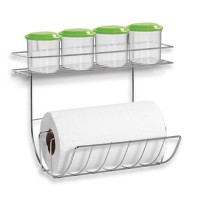 Porta Condimentos e Papel Toalha em Aço Cromado - 124 - Niquelart