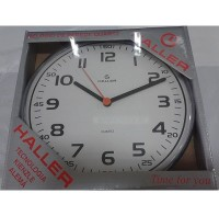 Relógio de Parede Disco Minuteria Preta - 5609 - Haller