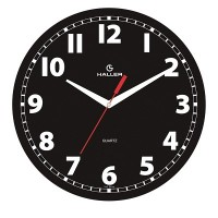 Relógio de Parede D30 Mostrador Preto / Maria e Jesus - 5342 - Haller