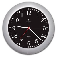 Relógio de Parede Saturno Prata Mostrador Aviador - 5385 - Haller
