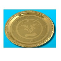 Prato Bodas de Ouro Dourado Inox - 052 - MPPatheon