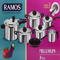 Conjunto 7 peças Extra Polida Millenium - 0250 - Aluminio Ramos