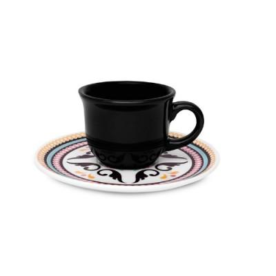 Conjunto de 06 Xícaras para Café 75 ml com Pires Luiza - J827-6750-1-3 - OXFORD