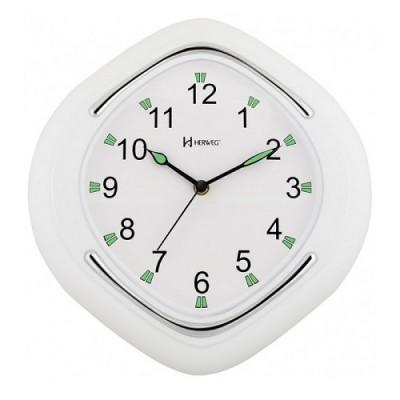 Relógio de Parede Quartz Branco Fosco - 6640 - Herweg