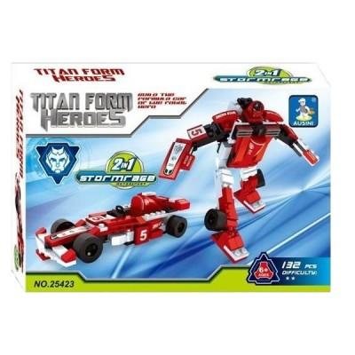Carrinho de Brinquedo Titan Form Heroes - 7033 - Macro International