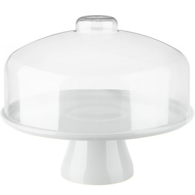 Boleira Cake com Cúpula 32cm Branca - 10111/007 - Coza
