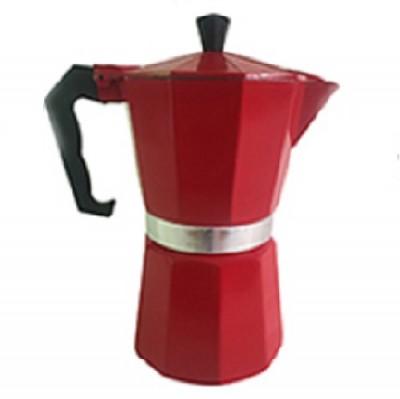 Cafeteira Italiana Alumínio para 6 Cafezinhos Preta - 5749-AF06 - Mimo Style