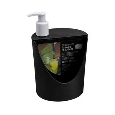 Dispenser Romeu e Julieta 600ml PP12 Coza Preto - 10837/0008 - Brinox