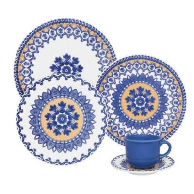 Aparelho de Jantar Chá 30 peças Floreal La Carreta - J164-6788 - Oxford