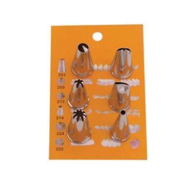 Conjunto de Bicos de Confeitar Pequeno 6 Tipos - 33011 - Jolly