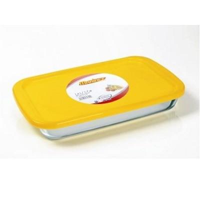 Assadeira Retangular com Tampa Plástica 1,6 Litro - 653225 - Marinex