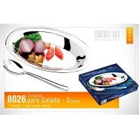 Conjunto para servir Salada 2 peças Inox - 8026 - Megainox