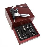 Conjunto Profissional para Vinho 8 peças em Inox - ZR6162010 - Euro Home