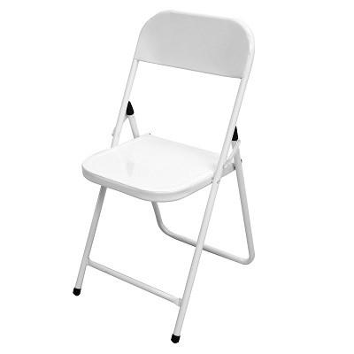 Cadeira de Aço Dobrável Ásia Branca - 11701 - Metalmix