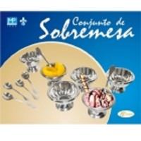 Conjunto de Sobremesa 12 peças Inox - 200 - Pantheon