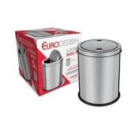 Lixeira com Tampa Basculante 5 Litros Inox com Base Antiderrapante - JXFG5L - Euro Home
