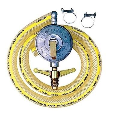 Regulador de Pressão para Gás Excel Completo com Mangueira e Abraçadeiras - 096-0 - Vinigás