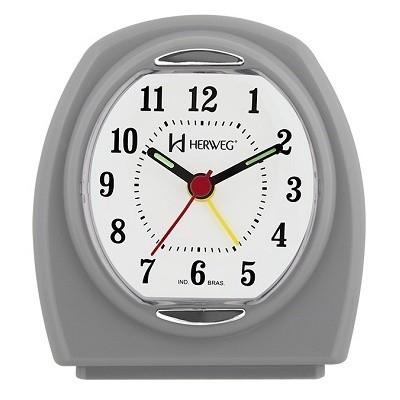 Despertador Quartz Cinza - 2633 - Herweg