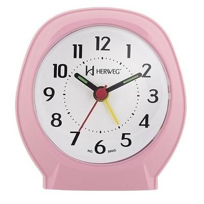 Relógio Despertador Quartz Rosa - 2634-036 - Herweg