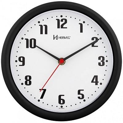 Relógio de Parede Preto - 6102-34 - Herweg