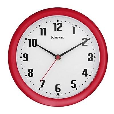 Relógio de Parede Vermelho - 6102-269 - Herweg