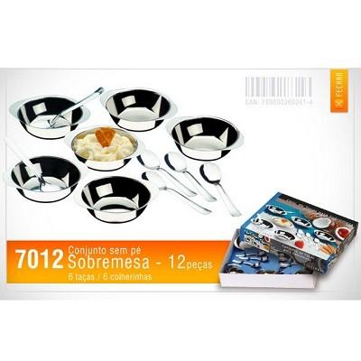 Conjunto de Taças para Sobremesa 12 peças - 7012 - Megainox