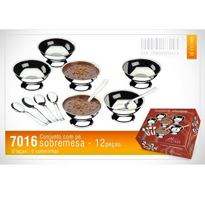 Conjunto de Sobremesa 12 peças - 7016 - Megainox