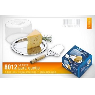Conjunto Inox para Queijo - 8012 - Megainox