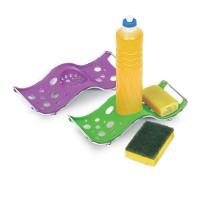 Porta Detergente, Sabão e Esponja Onda Cromo Colors - 336 - Niquelart