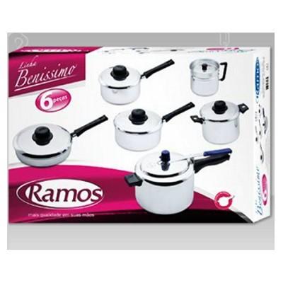 Conjunto Benissimo 6 peças com Panela de Pressão Pressionella 4,5 Litros - 1111 - Ramos