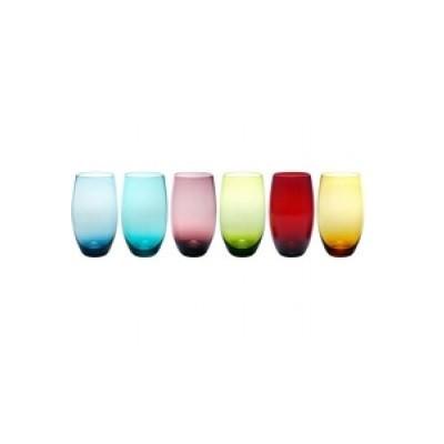 Copo Long Drink 570ml Vidro Multicolorido 6 peças - 311005294 - GS Internacional