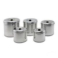 Conjunto de Depósito de Cereais Polido 5 peças Stock Line - 1109 - Ramos