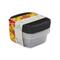 Clic Pote Quadrado 3 peças 580 ml - 2355 - Plasútil