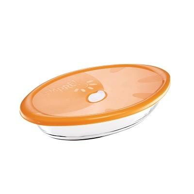 Assadeira Oval Com Tampa Plástica 1,5 Litro Linha Sempre - 6314 - Nadir Figueiredo