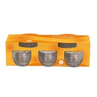 Conjunto de 6 Xícaras para Chá Crystal com Píres em Vidro - 0705 - Wheaton Brasil