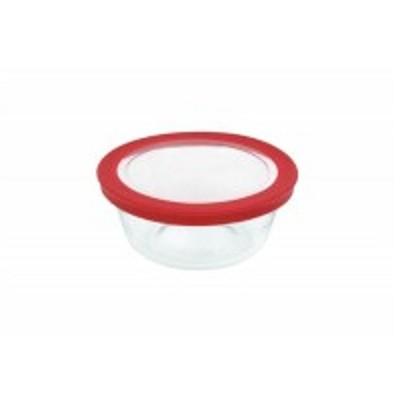 Tigela Prática 600 ml com Tampa de Plástico - GD16312011N - Marinex