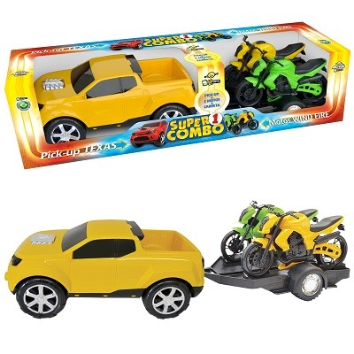 Pick-up Texas Super Combo com 2 Motos - 158 - BSTOYS