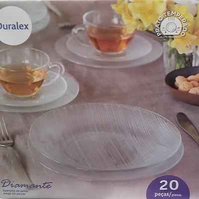 Aparelho de Jantar 20 peças Vidro Temperado Diamante - 11031 - Duralex