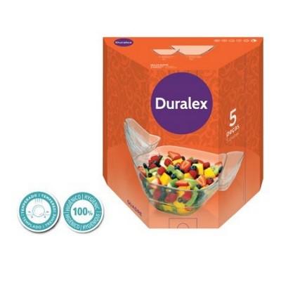 Conjunto de Saladeiras 5 peças Vidro Temperado - 1235CB-4208 - Duralex