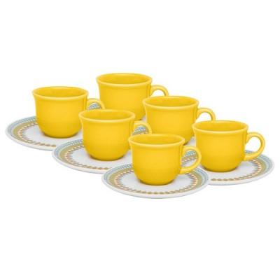 Conjunto de Chá 12 peças Floreal Bilro - J568677010 - OXFORD