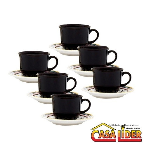 Conjunto para Chá 200ml 12 peças Daily Floreal Luiza - J038-6750-1-7 - Oxford