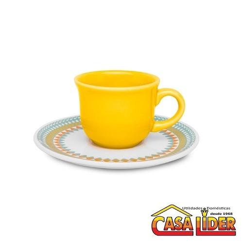 Conjunto para Café 75ml 12 peças Daily Floral Bilro - J827-6770-1-6 - Oxford