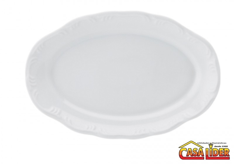 Travessa Porcelana Oval Pomerode 28 cm Rasa - MD-114/Dec-0000 - Schmidt