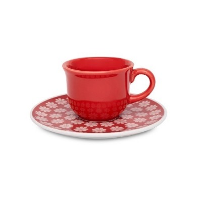 Conjunto de 06 Xícaras para Café 75 ml com Pires Renda - J827-6750-1-3 - OXFORD