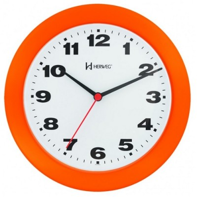 Relógio de Parede Quartz Laranja - 6103-270 - Herweg