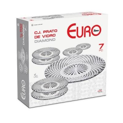 Conjunto de Pratos de Vidro Diamond 7 peças - VDR7572 - Euro