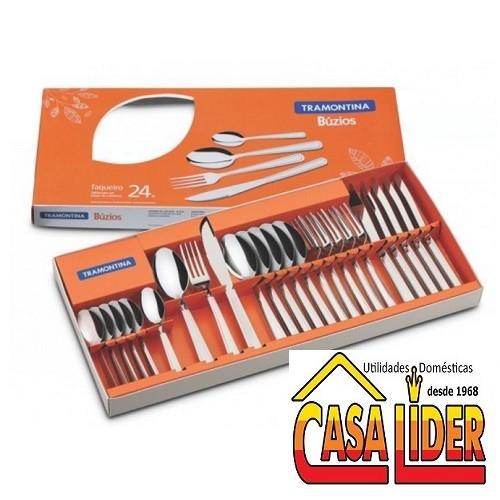 Faqueiro Inox 24 peças Buzios - 23799/052 - Tramontina