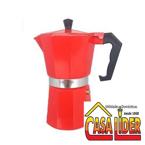 Cafeteira Italiana Alumínio para 6 Cafezinhos Vermelho - 5748-AF06V- Mimo Style