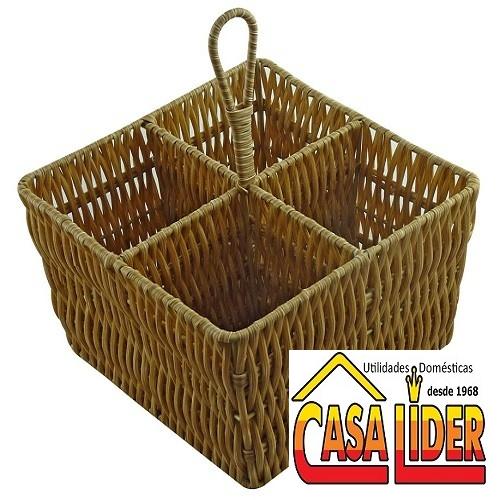 Porta Talher Quadrado Vertical Claro - 5043-YK14640 - Mimo Style